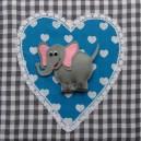 Grijs-aqua olifant