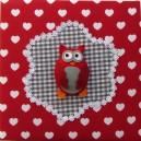 grijs rood uiltjes babykamer