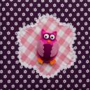 uiltje babykamer paars roze