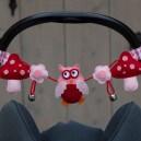 Wagenspanner roze-rood maxicosi